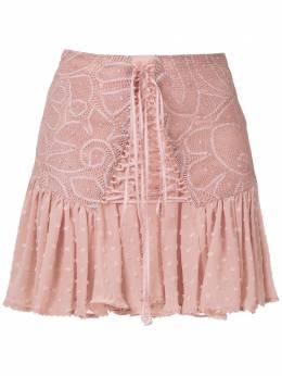 Martha Medeiros кружевная юбка мини Thamires SC001LV0