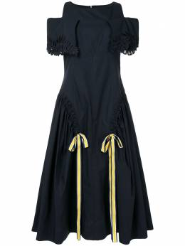 Fendi расклешенное платье с открытыми плечами FD9623A0MY