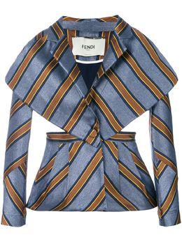 Fendi приталенная куртка в полоску FJ6885A1TC