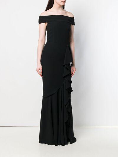 Alexander McQueen вечернее платье с открытыми плечами 409481QME64 - 3