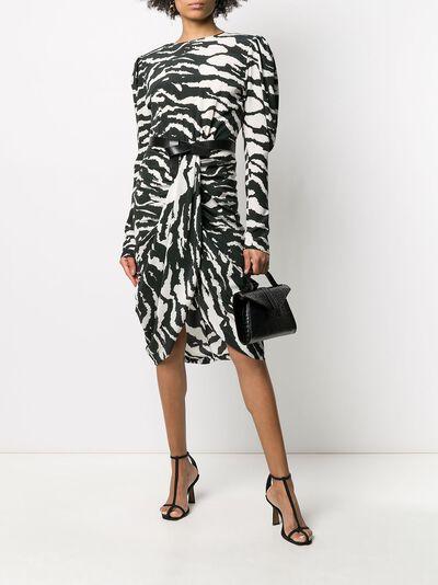Isabel Marant платье Frera с зебровым принтом RO159520P020I - 2