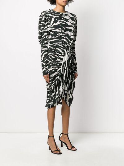 Isabel Marant платье Frera с зебровым принтом RO159520P020I - 3