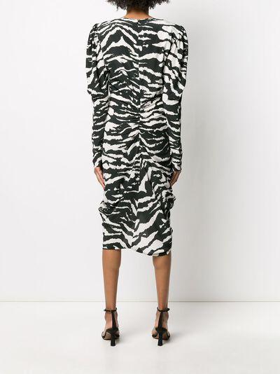 Isabel Marant платье Frera с зебровым принтом RO159520P020I - 4