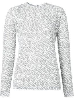 Burberry блузка с узором 8026472