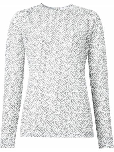 Burberry блузка с узором 8026472 - 1