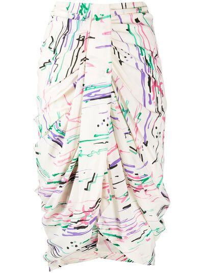 Isabel Marant юбка миди со сборками JU112020P020I - 1