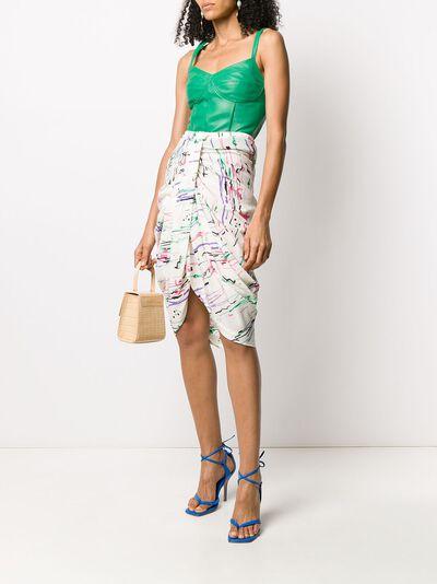 Isabel Marant юбка миди со сборками JU112020P020I - 2