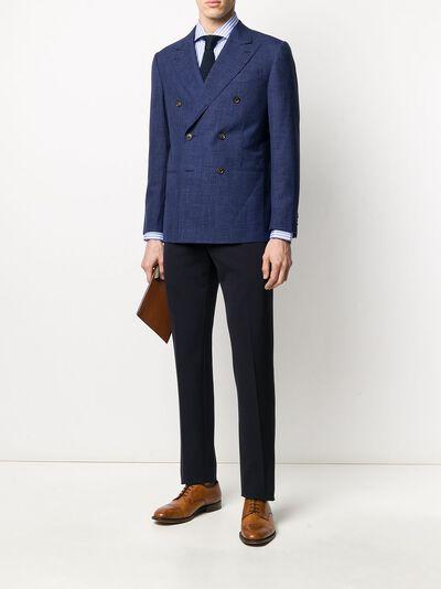 Caruso двубортный пиджак узкого кроя LN2JD611F501188 - 2