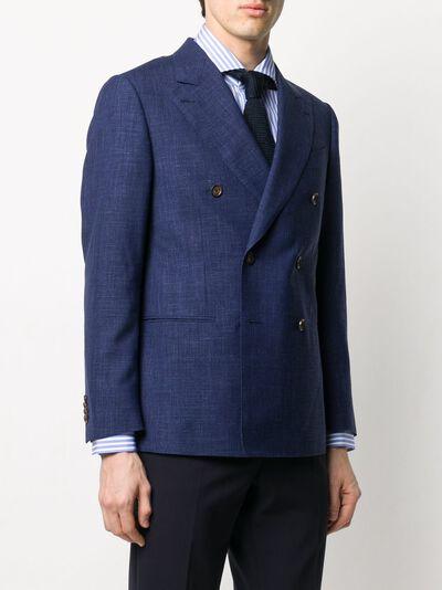 Caruso двубортный пиджак узкого кроя LN2JD611F501188 - 3