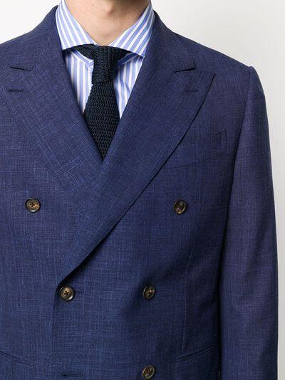 Caruso двубортный пиджак узкого кроя LN2JD611F501188 - 5
