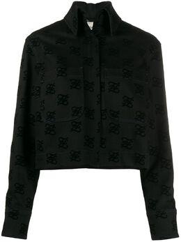 Fendi джинсовая куртка с логотипом FLF601A5XB