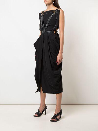 Proenza Schouler платье миди с драпировкой R2023018AY116 - 3