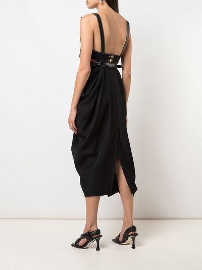 Proenza Schouler платье миди с драпировкой R2023018AY116 - 4