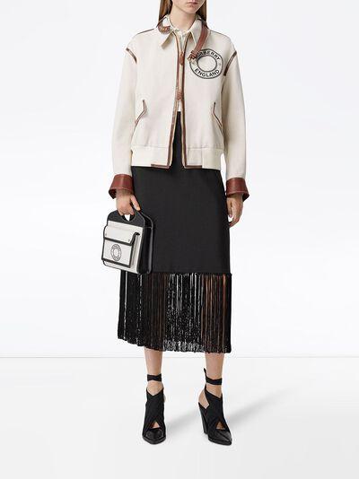 Burberry юбка с бахромой 4564551 - 2