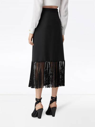 Burberry юбка с бахромой 4564551 - 4