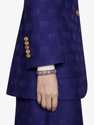 Gucci браслет-кафф с логотипом GG 607105J7457 - 4