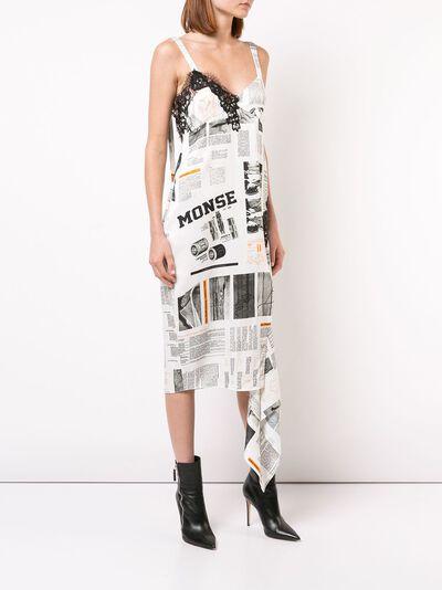 Monse платье-комбинация с принтом MF18N0204PBP - 3