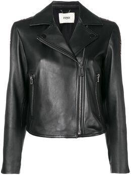 Fendi куртка с полосками с логотипами FF FPJ706NBA