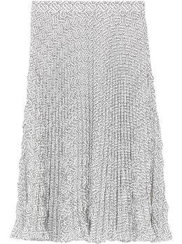 Burberry плиссированная юбка с монограммой 4564351