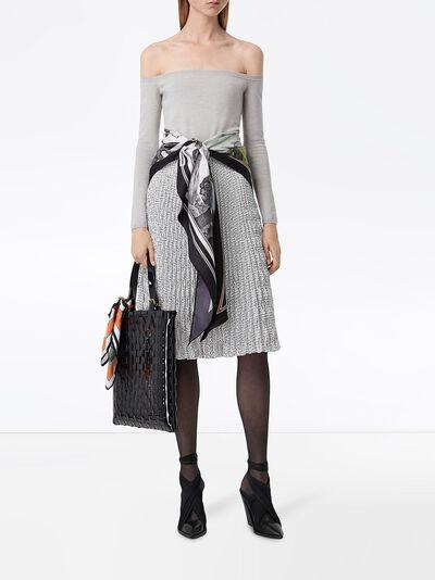 Burberry плиссированная юбка с монограммой 4564351 - 2