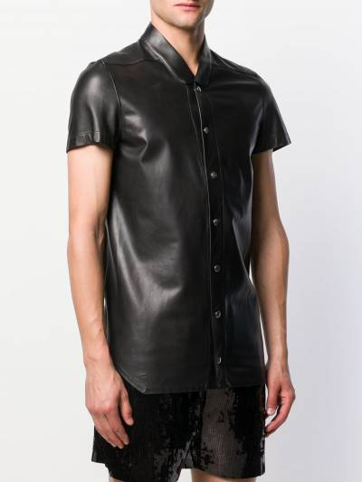 Rick Owens band collar shirt RU20S7292LLP - 3