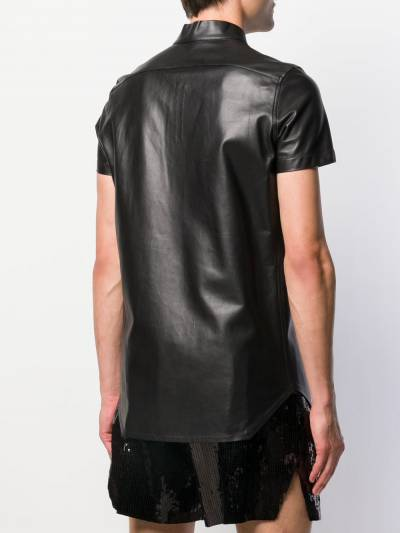 Rick Owens band collar shirt RU20S7292LLP - 4