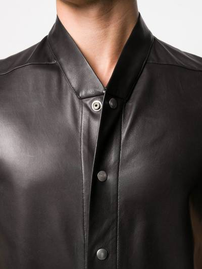 Rick Owens band collar shirt RU20S7292LLP - 5