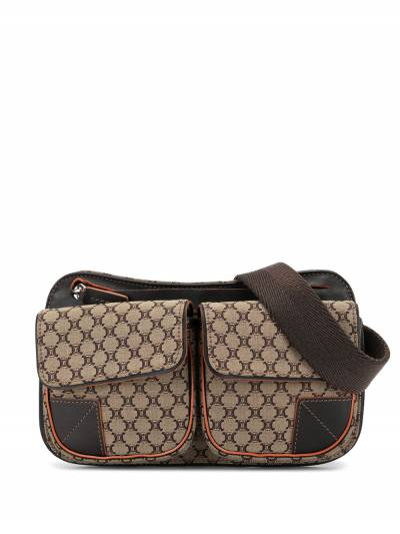 Celine Pre-Owned поясная сумка с узором Macadam ENCEL0010 - 1