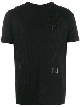 Fendi футболка с логотипом FF FY0894AAOQ