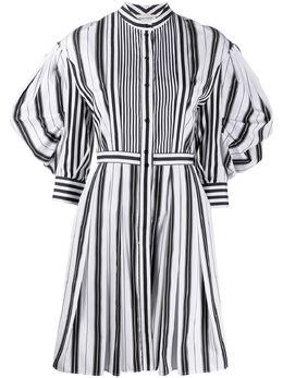 Alexander McQueen полосатое платье-рубашка с пышными рукавами 620609QZABF