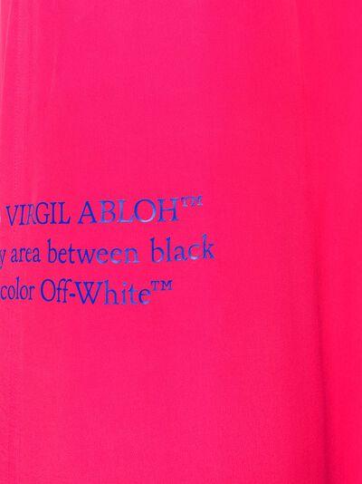 Off-White платье с вырезами OWDB234S20FAB0013245 - 5