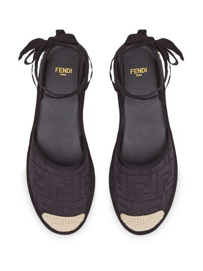 Fendi эспадрильи на шнуровке 8P7073ABN2 - 4