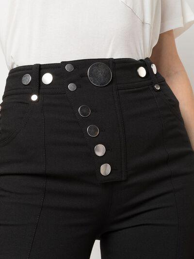 Alexander Wang брюки скинни с заклепками 1WC1204212 - 5