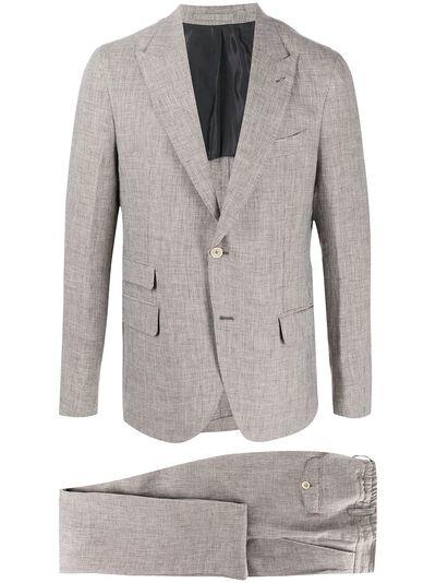 Eleventy костюм-двойка с однобортным пиджаком A75ABUA01TES0A04204 - 1