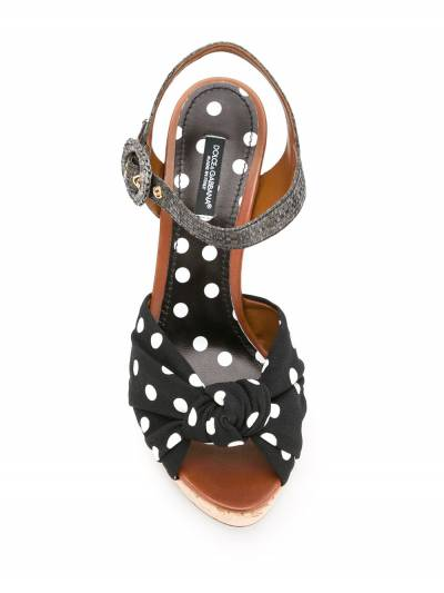 Dolce&Gabbana босоножки на танкетке с узором в горох CZ0121AG108 - 4