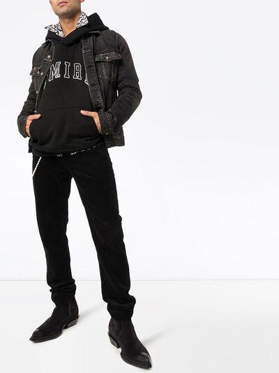 Amiri толстовка Collage с капюшоном и логотипом W9M02302TE - 2