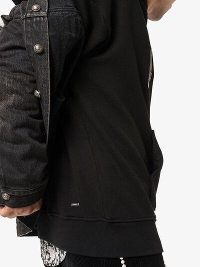 Amiri толстовка Collage с капюшоном и логотипом W9M02302TE - 5
