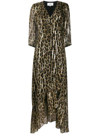 Ba&sh расклешенное платье макси с леопардовым принтом 1H19JISY - 1