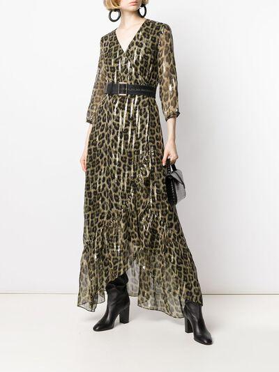 Ba&sh расклешенное платье макси с леопардовым принтом 1H19JISY - 2