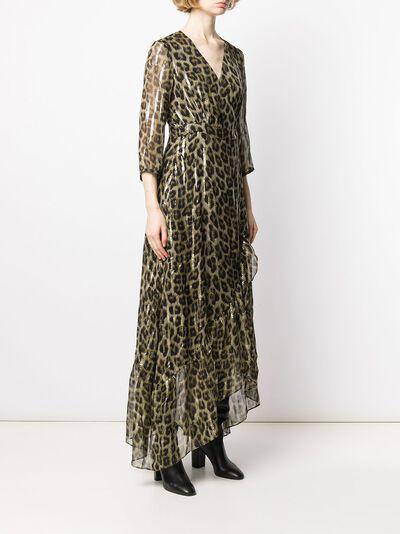 Ba&sh расклешенное платье макси с леопардовым принтом 1H19JISY - 3