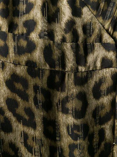 Ba&sh расклешенное платье макси с леопардовым принтом 1H19JISY - 5