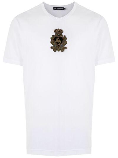 Dolce&Gabbana футболка с вышитым логотипом G8JX7ZG7VNM - 1