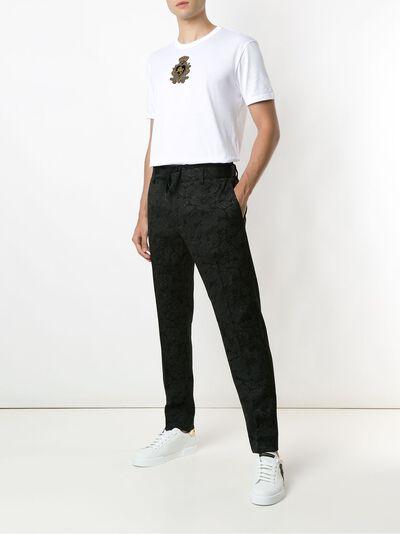 Dolce&Gabbana футболка с вышитым логотипом G8JX7ZG7VNM - 2
