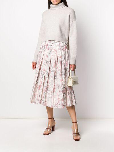 Agnona плиссированная юбка s5012g607oy - 2