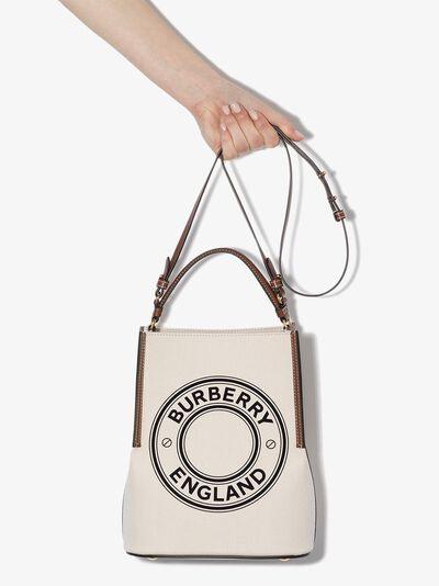Burberry маленькая сумка-тоут Penny с логотипом 8026824 - 3