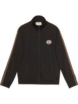 Gucci сетчатая куртка оверсайз с логотипом 599359XJB1N