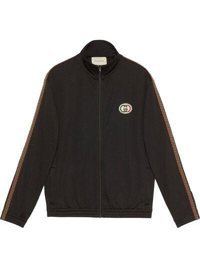 Gucci сетчатая куртка оверсайз с логотипом 599359XJB1N - 1
