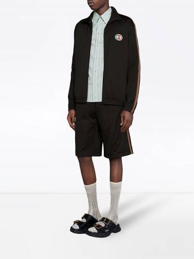 Gucci сетчатая куртка оверсайз с логотипом 599359XJB1N - 2