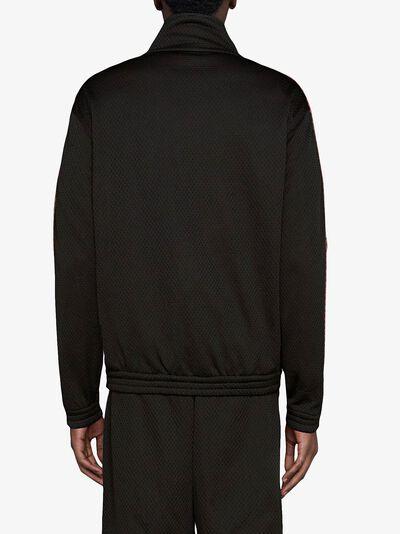 Gucci сетчатая куртка оверсайз с логотипом 599359XJB1N - 4
