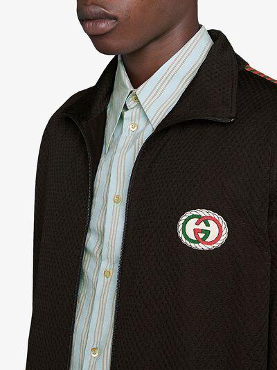 Gucci сетчатая куртка оверсайз с логотипом 599359XJB1N - 5